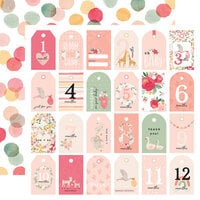 Echo Park - Welcome Baby Girl Collection - 12 x 12 Double Sided Paper - Girl Tags