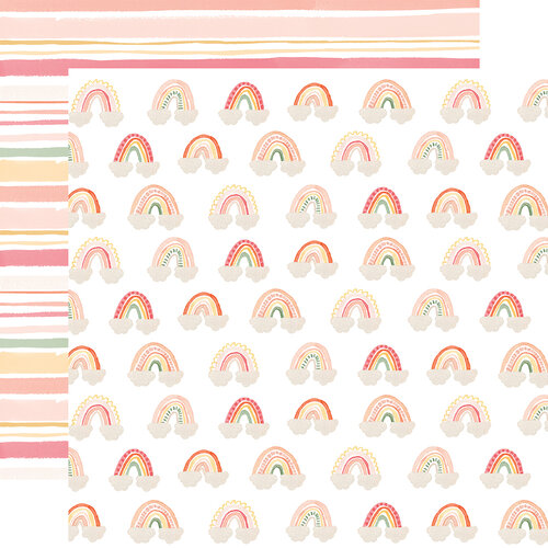 Echo Park - Welcome Baby Girl Collection - 12 x 12 Double Sided Paper - Rainbows
