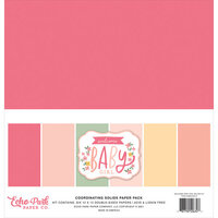 Echo Park - Welcome Baby Girl Collection - 12 x 12 Paper Pack - Solids