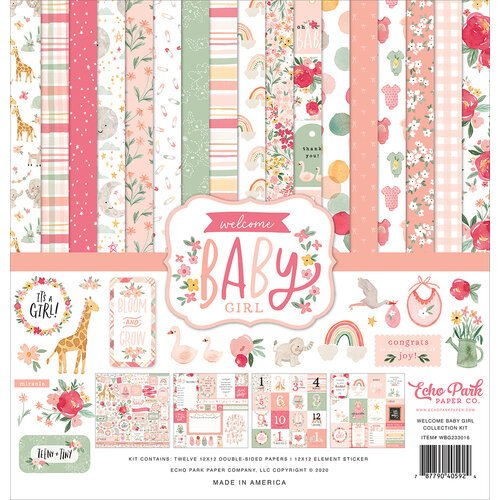 Echo Park - Welcome Baby Girl Collection - 12 x 12 Collection Kit