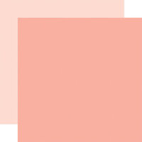 Echo Park - Welcome Baby Girl Collection - 12 x 12 Double Sided Paper - Salmon