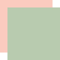 Echo Park - Welcome Baby Girl Collection - 12 x 12 Double Sided Paper - Green