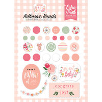 Echo Park - Welcome Baby Girl Collection - Self Adhesive Decorative Brads
