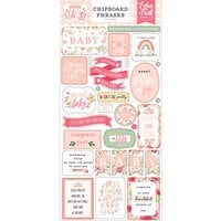Echo Park - Welcome Baby Girl Collection - Chipboard Stickers - Phrases