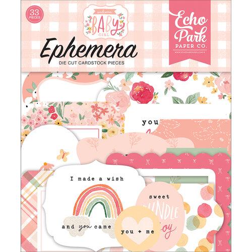 Echo Park - Welcome Baby Girl Collection - Ephemera