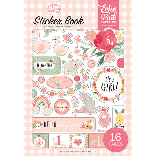 Echo Park - Welcome Baby Girl Collection - Cardstock Sticker Book
