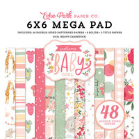 Echo Park - Welcome Baby Girl Collection - 6 x 6 Mega Paper Pad