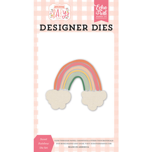 Echo Park - Welcome Baby Girl Collection - Designer Dies - Sweet Rainbow