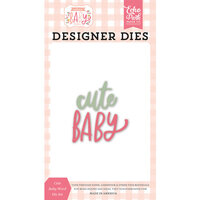 Echo Park - Welcome Baby Girl Collection - Designer Dies - Cute Baby