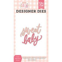 Echo Park - Welcome Baby Girl Collection - Designer Dies - Sweet Baby