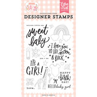 Echo Park - Welcome Baby Girl Collection - Clear Photopolymer Stamps - Welcome Little One