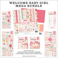 Echo Park - Welcome Baby Girl Collection - 12 x 12 Mega Bundle
