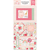 Echo Park - Welcome Baby Girl Collection - Chipboard Embellishments - Frames