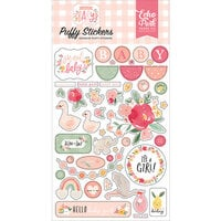 Echo Park - Welcome Baby Girl Collection - Puffy Stickers
