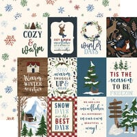 Echo Park - Warm and Cozy Collection - 12 x 12 Double Sided Paper - 3 x 4 Journaling Cards