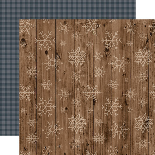 Echo Park - Warm and Cozy Collection - 12 x 12 Double Sided Paper - Wooden Snowflakes