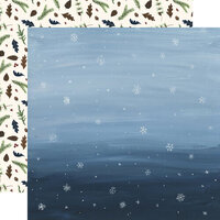 Echo Park - Warm and Cozy Collection - 12 x 12 Double Sided Paper - Snowy Sky