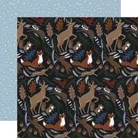 Echo Park - Warm and Cozy Collection - 12 x 12 Double Sided Paper - Cozy Animals