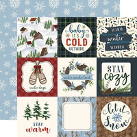 Echo Park - Warm and Cozy Collection - 12 x 12 Double Sided Paper - 4 x 4 Journaling Cards