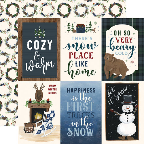Echo Park - Warm and Cozy Collection - 12 x 12 Double Sided Paper - 4 x 6 Journaling Cards