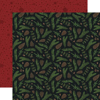 Echo Park - Warm and Cozy Collection - 12 x 12 Double Sided Paper - Pine Boughs
