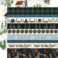 Echo Park - Warm and Cozy Collection - 12 x 12 Double Sided Paper - Border Strips