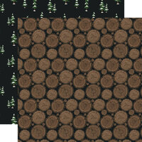 Echo Park - Warm and Cozy Collection - 12 x 12 Double Sided Paper - Firewood