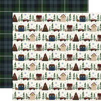 Echo Park - Warm and Cozy Collection - 12 x 12 Double Sided Paper - Cabin Village