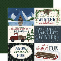 Echo Park - Warm and Cozy Collection - 12 x 12 Double Sided Paper - 6X4 Journaling Cards