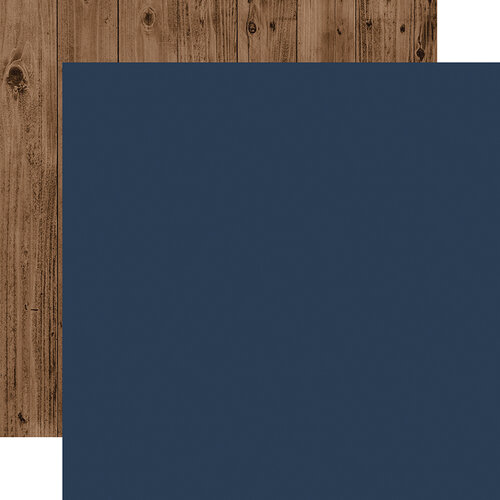 Echo Park - Warm and Cozy Collection - 12 x 12 Double Sided Paper - Dark Blue