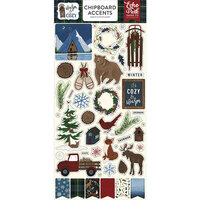 Echo Park - Warm and Cozy Collection - Chipboard Stickers - Accents