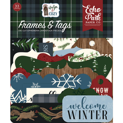 Echo Park - Warm and Cozy Collection - Ephemera - Frames and Tags