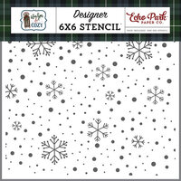 Echo Park - Warm and Cozy Collection - 6 x 6 Stencil - Cozy Snowflake