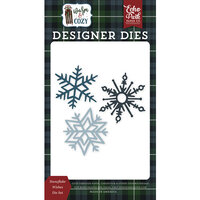 Echo Park - Warm and Cozy Collection - Designer Dies - Snowflake Wishes