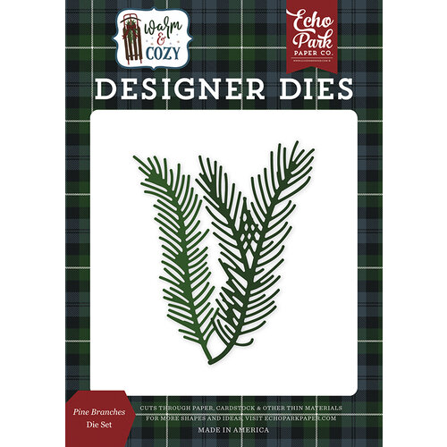 Echo Park - Warm and Cozy Collection - Designer Dies - Pine Branches