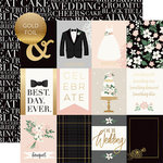 Echo Park - Wedding Day Collection - 12 x 12 Double Sided Paper with Foil Accents - 3 x 4 Journaling Cards