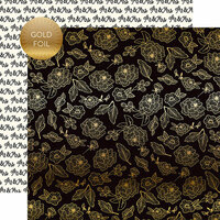 Echo Park - Wedding Day Collection - 12 x 12 Double Sided Paper with Foil Accents - Gold Floral