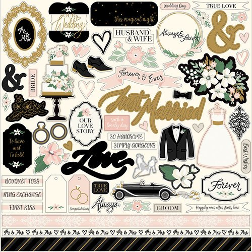 Echo Park - Wedding Day Collection - 12 x 12 Cardstock Stickers - Elements