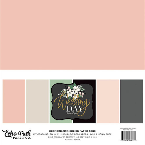 Echo Park - Wedding Day Collection - 12 x 12 Paper Pack - Solids