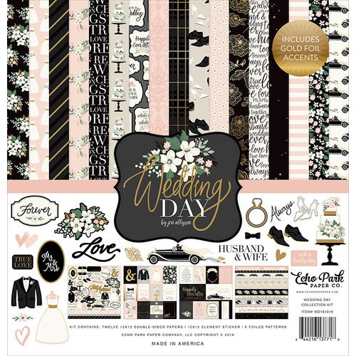 Echo Park - Wedding Day Collection - 12 x 12 Collection Kit with Foil Accents