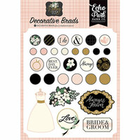 Echo Park - Wedding Day Collection - Decorative Brads