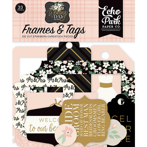 Echo Park - Wedding Day Collection - Ephemera - Frames and Tags