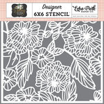 Echo Park - Wedding Day Collection - 6 x 6 Stencil - Floral Bouquet