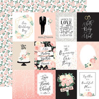 Echo Park - Wedding Collection - 12 x 12 Double Sided Paper - 3 x 4 Journaling Cards