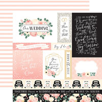 Echo Park - Wedding Collection - 12 x 12 Double Sided Paper - Journaling Cards