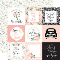 Echo Park - Wedding Collection - 12 x 12 Double Sided Paper - 4 x 4 Journaling Cards