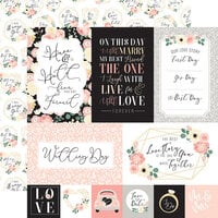 Echo Park - Wedding Collection - 12 x 12 Double Sided Paper - Multi Journaling Cards