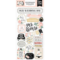 Echo Park - Wedding Collection - Chipboard Phrases