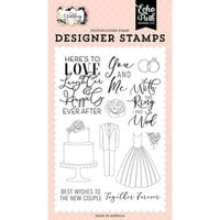 Echo Park - Wedding Collection - Clear Photopolymer Stamps - Here's To Love