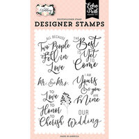 Echo Park - Wedding Collection - Clear Photopolymer Stamps - Our Wedding